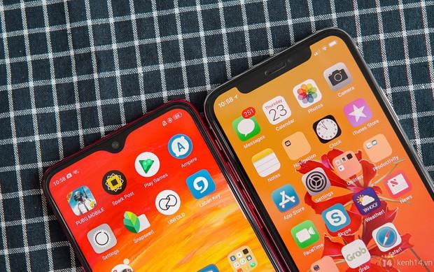 So sánh giọt nước OPPO F9 với tai thỏ iPhone X: Nhỏ hơn thôi là đẹp rồi - Ảnh 1.