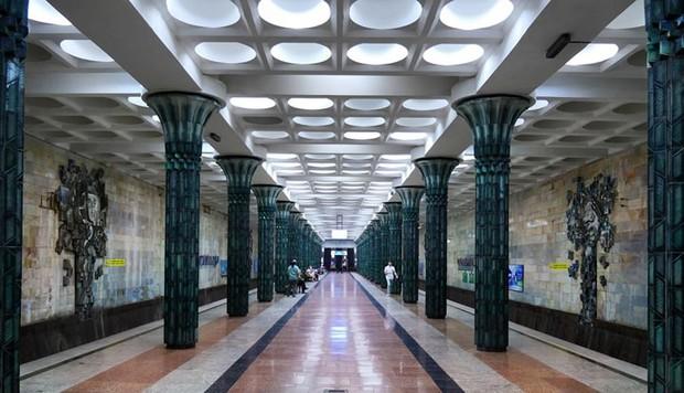 Ảnh: Khám phá ga tàu điện ngầm chống bom hạt nhân bí mật ở Uzbekistan - Ảnh 13.