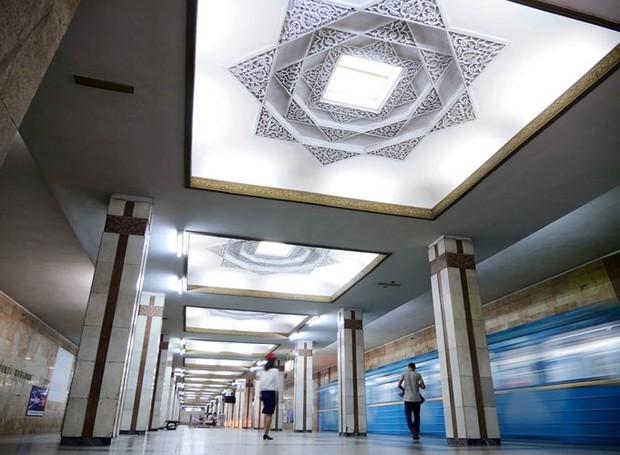 Ảnh: Khám phá ga tàu điện ngầm chống bom hạt nhân bí mật ở Uzbekistan - Ảnh 15.