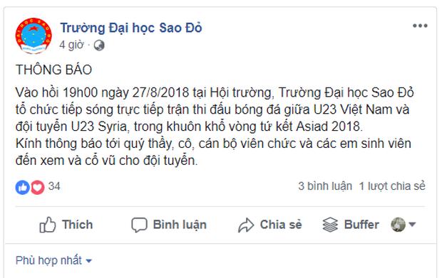 Nhiều trường Đại học tổ chức cho sinh viên xem tứ kết ASIAD Việt Nam - Syria trên màn hình hàng trăm inch - Ảnh 2.