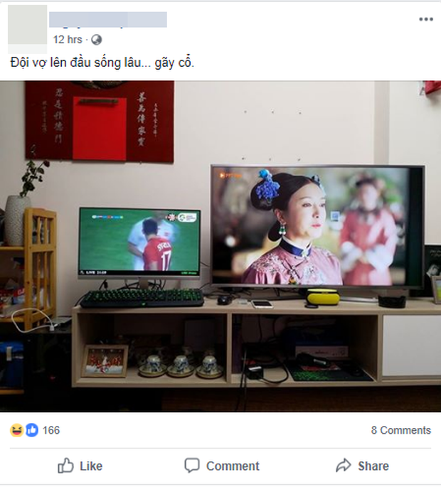Khi chồng cổ vũ cho Olympic Việt Nam, vợ lại là fan Diên Hi Công Lược - Ảnh 1.