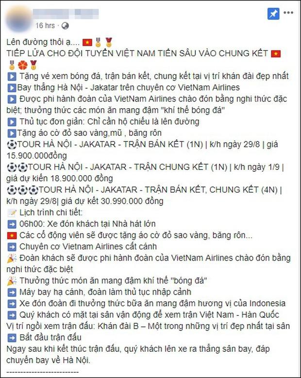 Bùng nổ tour du lịch sang Indonesia trực tiếp cổ vũ cho Olympic Việt Nam đá trận bán kết với Hàn Quốc - Ảnh 2.