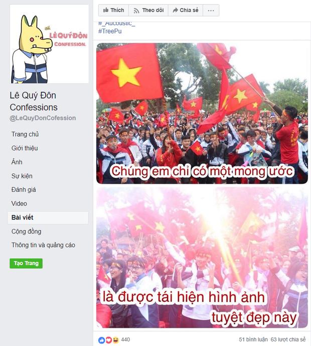 Hàng loạt trường Đại học cho sinh viên nghỉ học, lập đàn cầu nắng để cổ vũ đội tuyển Việt Nam - Ảnh 3.