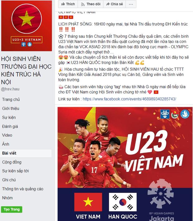 Hàng loạt trường Đại học cho sinh viên nghỉ học, lập đàn cầu nắng để cổ vũ đội tuyển Việt Nam - Ảnh 4.