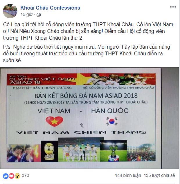 Hàng loạt trường Đại học cho sinh viên nghỉ học, lập đàn cầu nắng để cổ vũ đội tuyển Việt Nam - Ảnh 5.