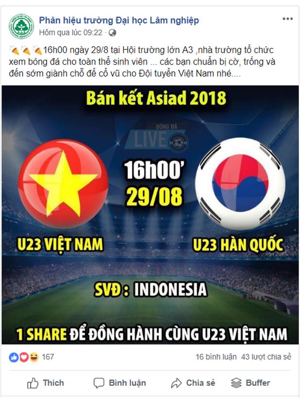 Hàng loạt trường Đại học cho sinh viên nghỉ học, lập đàn cầu nắng để cổ vũ đội tuyển Việt Nam - Ảnh 6.