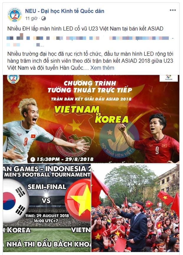 Hàng loạt trường Đại học cho sinh viên nghỉ học, lập đàn cầu nắng để cổ vũ đội tuyển Việt Nam - Ảnh 7.