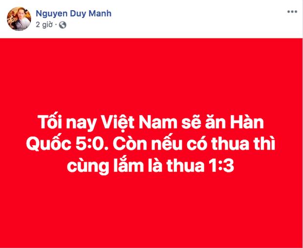 Tuyển Việt Nam thua trận trước Hàn Quốc, ca sĩ Duy Mạnh được dân mạng gọi tên vì lý do này? - Ảnh 1.
