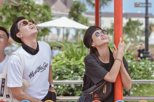 Here We Go: Jolie Nguyễn, Tôn Kinh Lâm, Alex Fox... cắn răng không la hét khi chơi trò cảm giác mạnh - Ảnh 5.