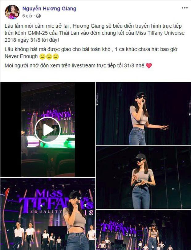 Hoa hậu Hương Giang tự tin thể hiện bản hit Never Enough khó nhằn tại Miss Tiffany Thailand 2018 - Ảnh 3.