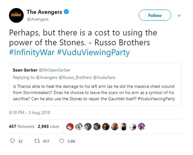 Đạo diễn Infinity War úp mở về khả năng cánh tay Thanos phế toàn tập sau cái búng hủy diệt - Ảnh 2.