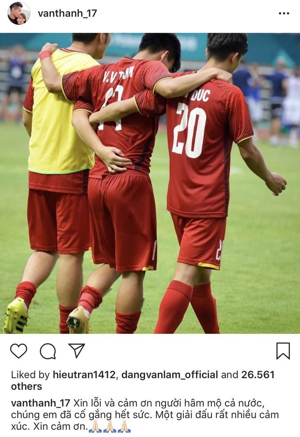 Cầu thủ Olympic Việt đồng loạt xin lỗi sau giải đấu cuối cùng ở cấp độ U23, fan xúc động hỏi: Có gì mà phải xin lỗi? - Ảnh 8.