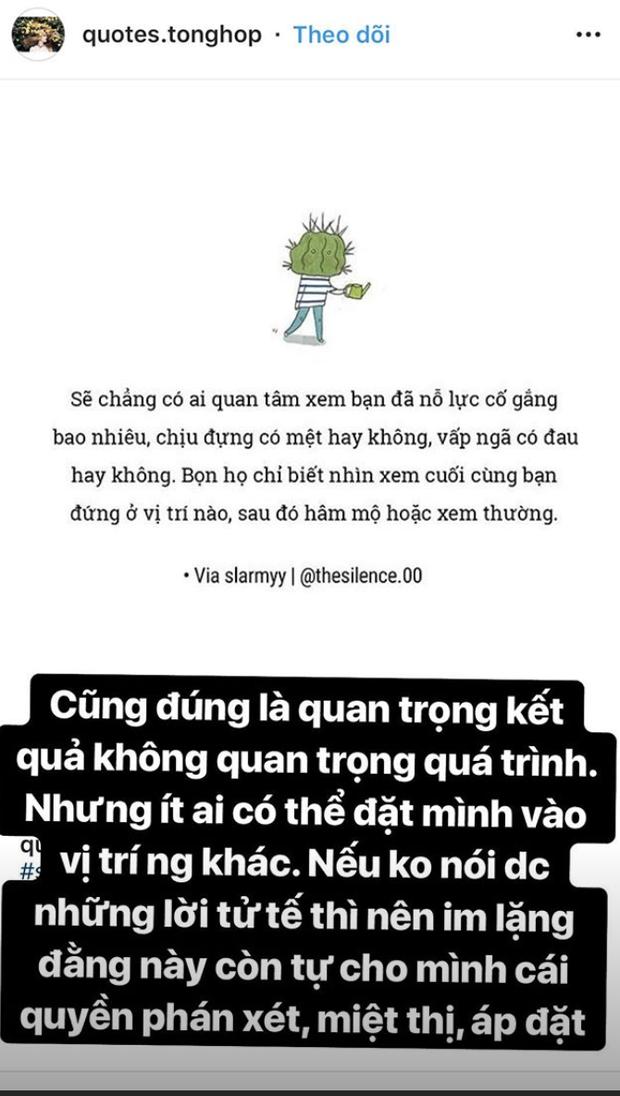Bạn gái Quang Hải viết story siêu gắt: Nếu không nói được lời tử tế thì nên im lặng - Ảnh 2.