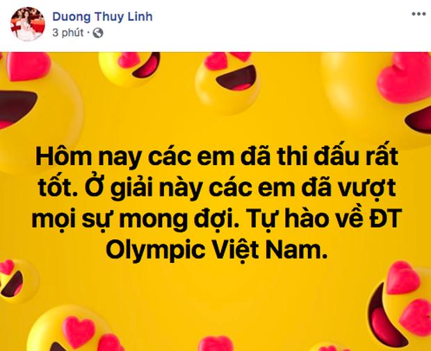 Sao Việt đồng loạt lên tiếng an ủi Olympic Việt Nam: Đừng khóc! Đã rất hay rồi, giờ về nhà thôi - Ảnh 5.