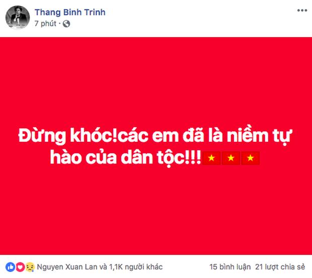 Sao Việt đồng loạt lên tiếng an ủi Olympic Việt Nam: Đừng khóc! Đã rất hay rồi, giờ về nhà thôi - Ảnh 3.