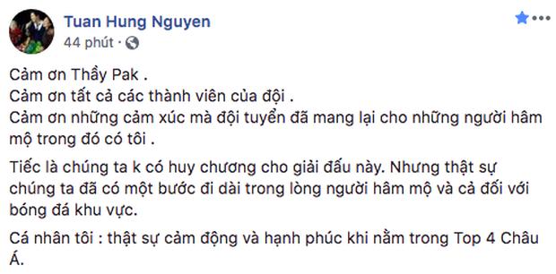 Sao Việt đồng loạt lên tiếng an ủi Olympic Việt Nam: Đừng khóc! Đã rất hay rồi, giờ về nhà thôi - Ảnh 1.