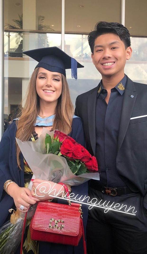 Ái nữ hội con nhà giàu Việt - Tiên Nguyễn cùng bạn gái của em trai tốt nghiệp ĐH ở Anh - Ảnh 9.