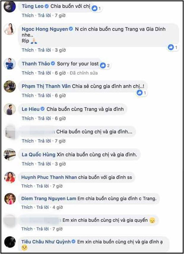 Loạt sao Việt gửi lời chia buồn khi biết tin bố chồng Đoan Trang qua đời - Ảnh 1.