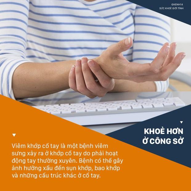 Dân văn phòng làm việc với máy tính nhiều sẽ có nguy cơ cao phải đối mặt với 4 căn bệnh ở tay sau đây - Ảnh 1.