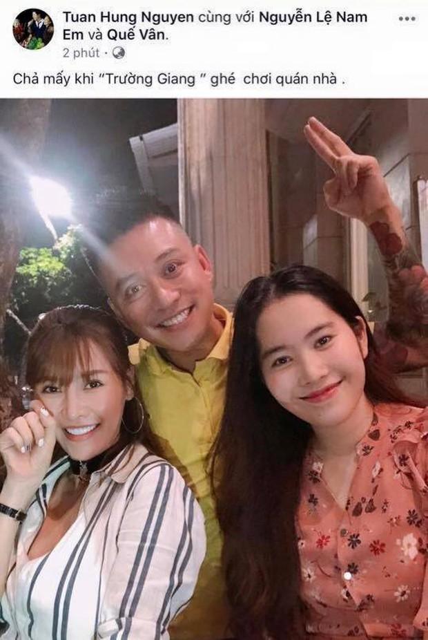 Tuấn Hưng đăng hình chụp với Nam Em nhưng lại gọi tên Trường Giang - Ảnh 1.