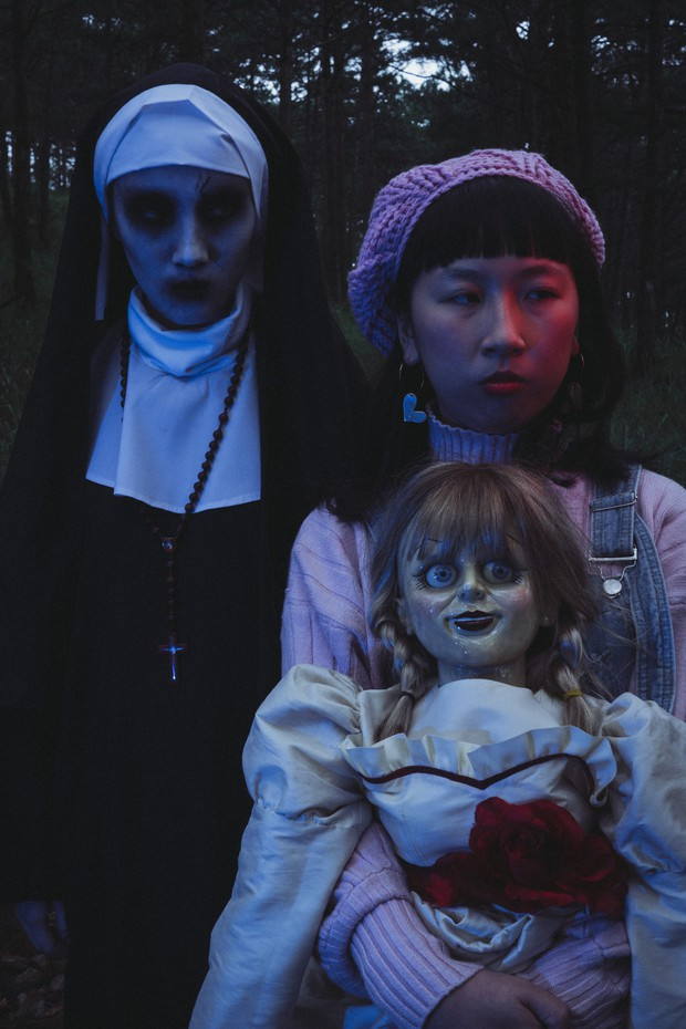 Hội chị em thánh bựa Trang Hý - Annabelle kết nạp thêm thành viên Valak - Ảnh 5.