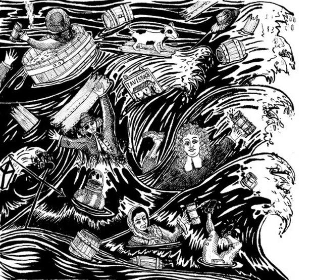Trận lũ lụt hy hữu trong lịch sử London: Ngọn sóng bia đen cao đến 4.5 mét càn quét đường phố khiến 8 người thiệt mạng - Ảnh 2.