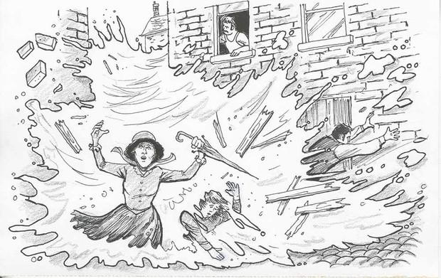 Trận lũ lụt hy hữu trong lịch sử London: Ngọn sóng bia đen cao đến 4.5 mét càn quét đường phố khiến 8 người thiệt mạng - Ảnh 3.