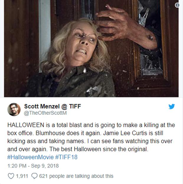 Phim kinh dị Halloween được giới phê bình khó tính tại LHP Toronto khen ngợi hết lời - Ảnh 4.