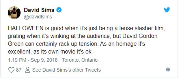 Phim kinh dị Halloween được giới phê bình khó tính tại LHP Toronto khen ngợi hết lời - Ảnh 5.
