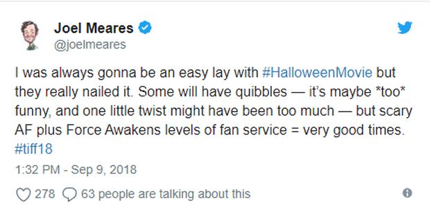 Phim kinh dị Halloween được giới phê bình khó tính tại LHP Toronto khen ngợi hết lời - Ảnh 6.