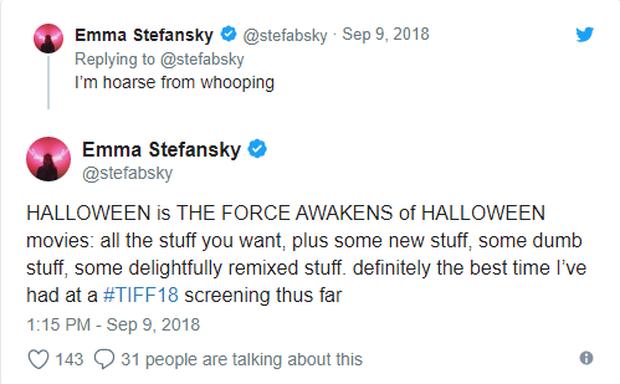 Phim kinh dị Halloween được giới phê bình khó tính tại LHP Toronto khen ngợi hết lời - Ảnh 7.