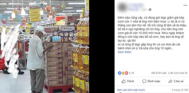 Câu chuyện đáng thương phía sau bức ảnh cụ ông ở Đà Nẵng cứ 20 giờ là tới siêu thị mua cơm thanh lý 10.000 đồng - Ảnh 1.