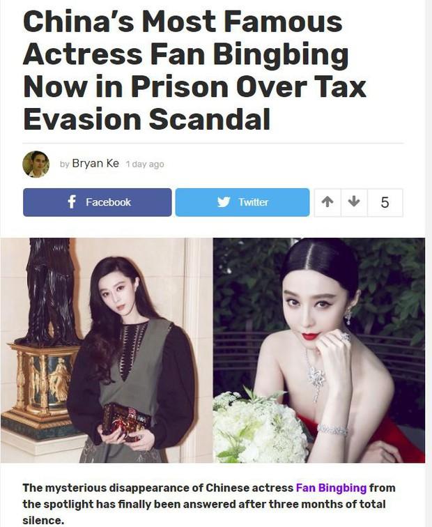 Báo chí hàng đầu quốc tế liên tục đưa tin Phạm Băng Băng mất tích vì scandal bị bắt vì trốn thuế - Ảnh 4.