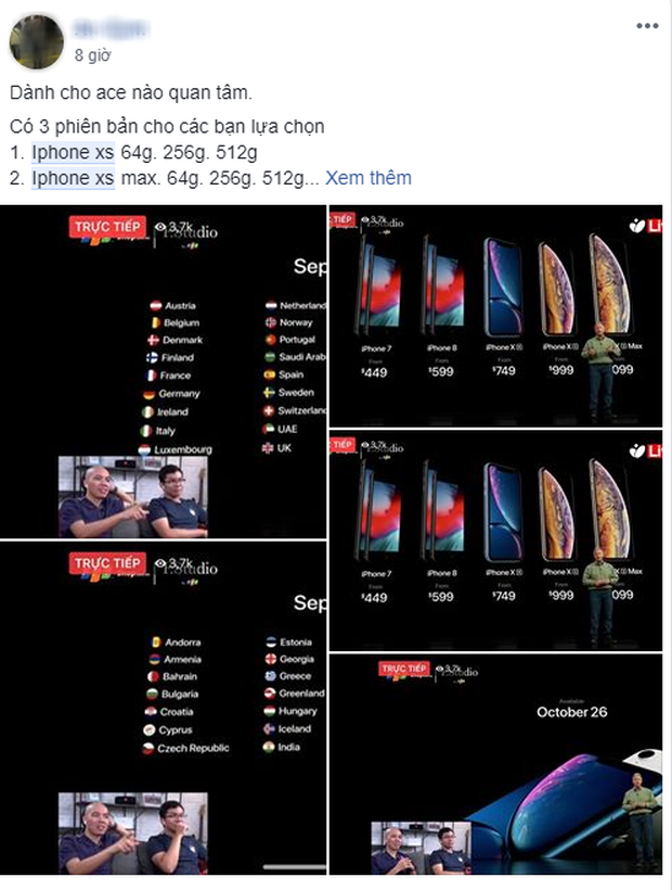 Mới ra mắt chưa được 12 giờ, du học sinh Việt các nước đã rầm rộ rao bán/đặt hàng iPhone Xs, Xs Max, Xr - Ảnh 5.