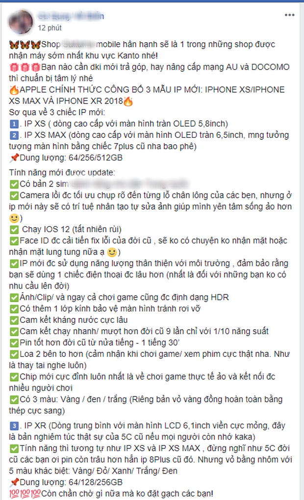 Mới ra mắt chưa được 12 giờ, du học sinh Việt các nước đã rầm rộ rao bán/đặt hàng iPhone Xs, Xs Max, Xr - Ảnh 6.