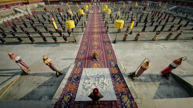 Mê đắm với thần thái chuẩn mẫu nghi thiên hạ ở đại lễ sắc phong Hoàng hậu của Như Ý Châu Tấn - Ảnh 9.