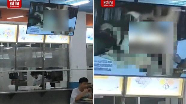 Trung Quốc: Phim người lớn bỗng chiếu ở căng tin Đại học, nhà trường bảo bị hack đấy - Ảnh 1.