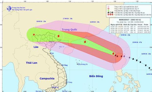 Siêu bão Mangkhut đã vào biển Đông, trở thành bão số 6 - Ảnh 1.