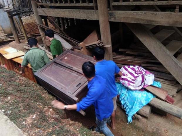 """Công an giúp người dân di dời nhà cửa, gặt lúa """"chạy"""" bão Mangkhut - Ảnh 2."""