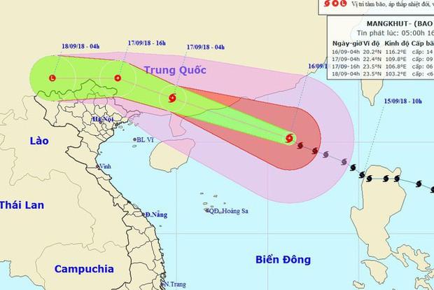 Bão Mangkhut đổ bộ vào Trung Quốc suy yếu nhanh, miền Bắc Việt Nam có khả năng mưa lớn - Ảnh 1.