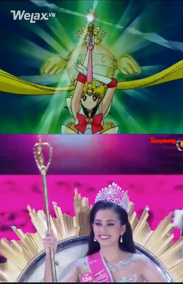 Vẫn những câu hỏi nhỏ: chiếc quyền trượng của Tân Hoa hậu Việt Nam 2018 giống cái gì? - Ảnh 1.