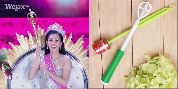 Vẫn những câu hỏi nhỏ: chiếc quyền trượng của Tân Hoa hậu Việt Nam 2018 giống cái gì? - Ảnh 5.
