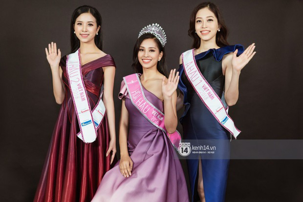 Ngắm Hoa hậu Trần Tiểu Vy sắc sảo bên cạnh Á hậu Phương Nga và Thúy An - Ảnh 14.