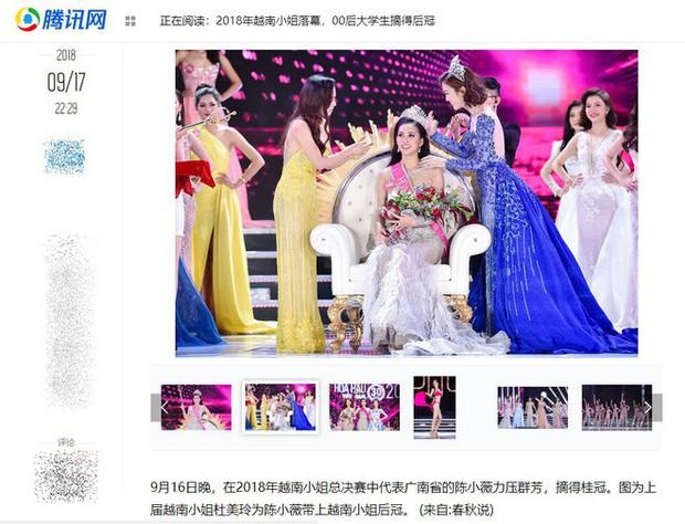 Hoa hậu Trần Tiểu Vy được báo Trung Quốc khen ngợi - Ảnh 1.