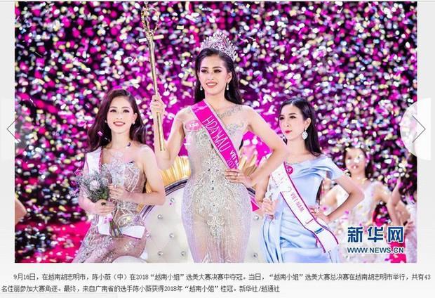 Hoa hậu Trần Tiểu Vy được báo Trung Quốc khen ngợi - Ảnh 2.