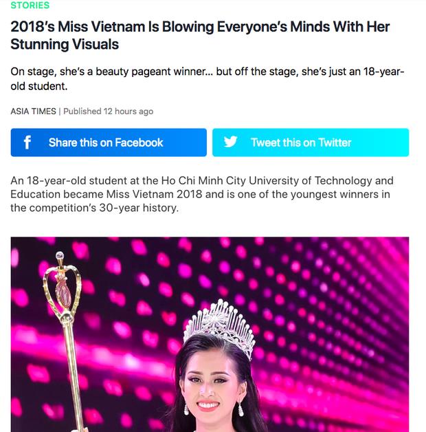 Báo Hàn và loạt diễn đàn nhan sắc nổi tiếng khen ngợi vẻ đẹp của Tân Hoa hậu Trần Tiểu Vy - Ảnh 1.