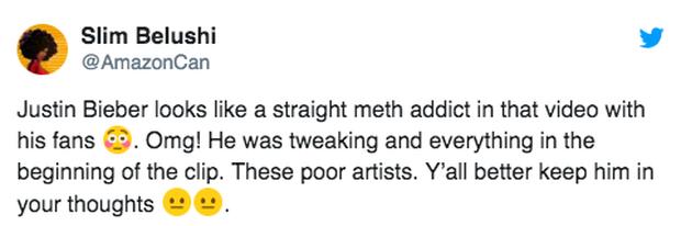 Clip sốc: Justin Bieber co giật liên tục trên phố, bị nghi do sử dụng ma túy đá - Ảnh 2.