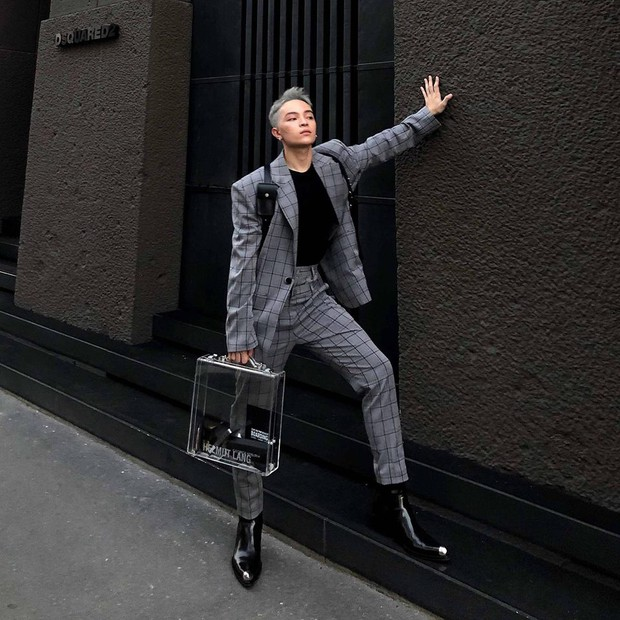 Vốn nhẵn mặt tại fashion week, lần này Kelbin Lei lại ngồi hàng ghế đầu của Moschino và Armani - Ảnh 1.