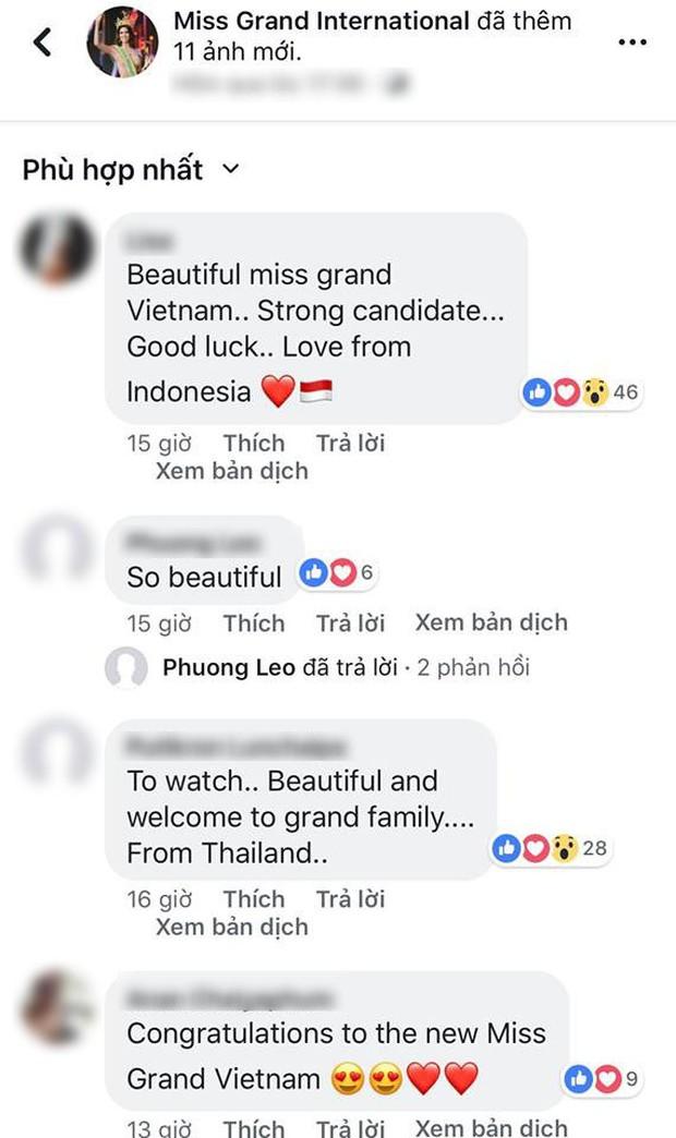 Á hậu Phương Nga được khán giả quốc tế khen ngợi khi xuất hiện trên fanpage của Miss Grand International 2018 - Ảnh 2.