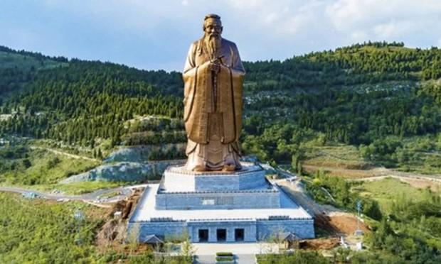 Trung Quốc: Tượng Khổng Tử lớn nhất thế giới chuẩn bị được khánh thành - Ảnh 1.